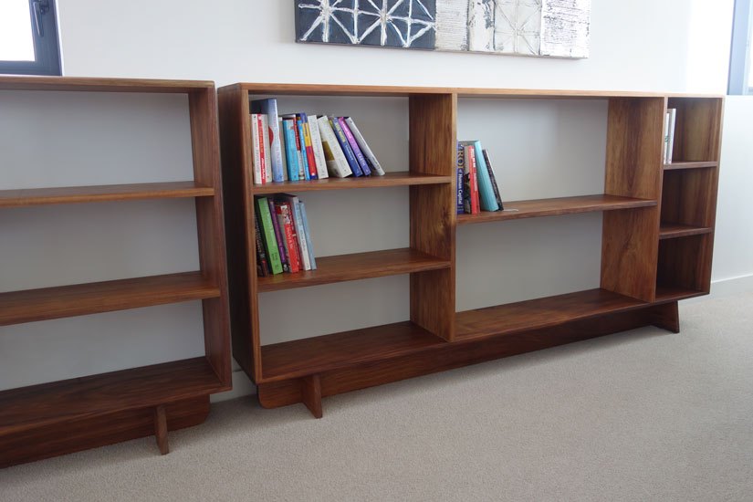 Tasmanian Oak bookshelves